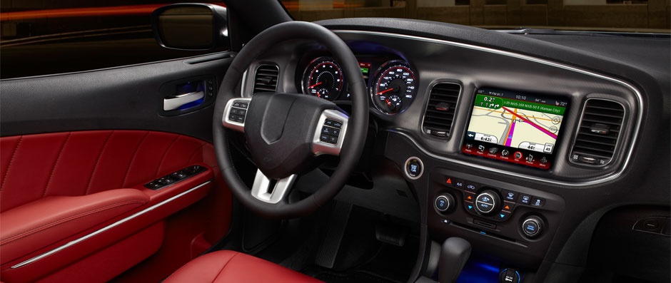 red and black interior for car