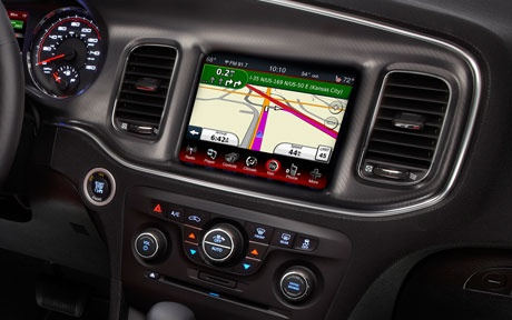 2013 Dodge Charger with fullscreen touch navigation