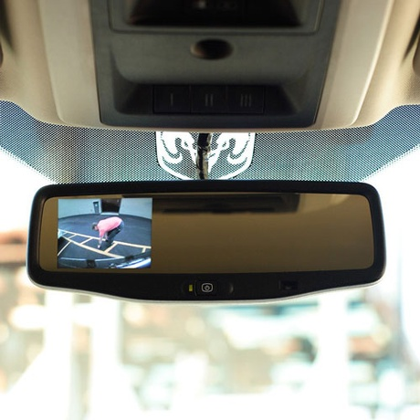 Dodge Ram Rearview mirror with LCD display